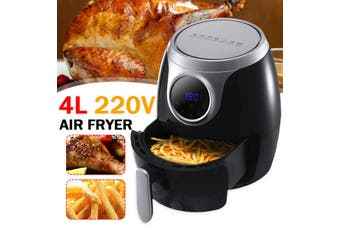 【4L】(1300W-Touch Switch) Air Fryer Rapid Healthy Cooker Timer Oven Low Fat Free Food Frying Non-stick Pan 220V For Home Fried Wings French Fries-360° High-speed air circulation