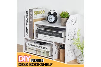 Desk Bookshelf DIY Bookcase Organizer Rack Office Unit Storage Box Shelves Stand