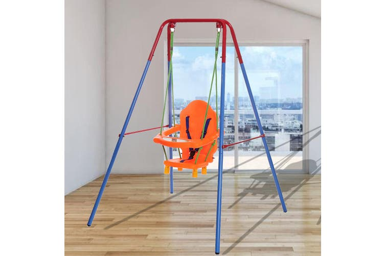 Outdoor Thickened Steel Pipe Children's Swing Rack Baby Swing Set Infant Secure Plastic Full Bucket Seat Game Fun Tools