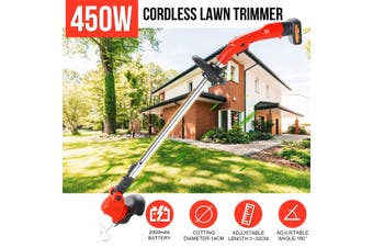 450W 26V Electric Cordless String Lawn Grass Weed Trimmer Lawn Mower