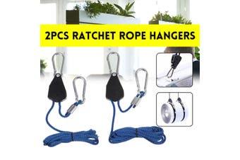 "1Pair 1/8"" 1.6M 150Lbs Rope Ratchet Hangers Heavy Duty Carries Grow Light Hanger"