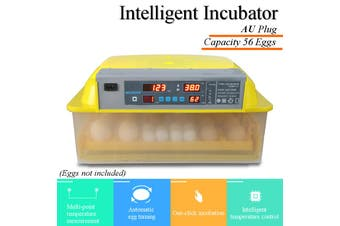 56 Egg Incubator Fully Automatic Digital Led Turning Chicken Duck Eggs Poultry
