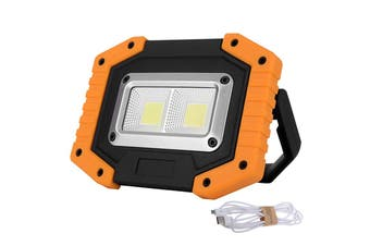 30W COB LED Flood Lamp Work Light Emergency USB Rechargeable IP65 Waterproof