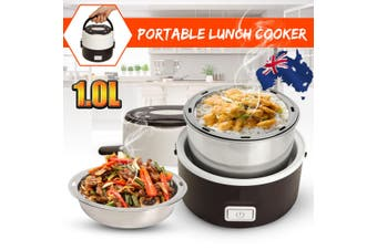 Portable Electric Lunch Box 2 Layer Steamer Cooker Pot Can Cooking Heating Rice
