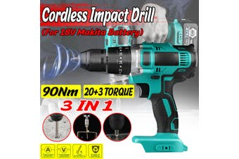 3 in 1 Cordless Electric Drill Rechargeable Hammer Impact Drill 13mm 20+3 Torque Electric Screwdriver