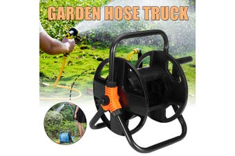 Portable Hose Pipe Reel Garden Cart Free Standing Holder 15-20M Water Hoses Storage Rack Car Wash Sprinkler Irrigation Good Helper