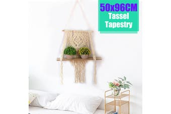 Woven Macrame Plant Hanger Wall Hanging Wall Art with Tassels Storage