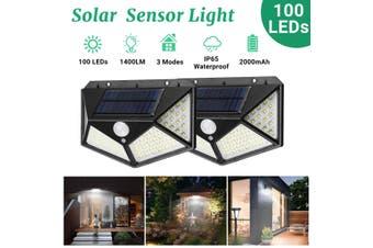 100 LEDs Solar Power PIR Motion Sensor Waterproof Wall Light Outdoor Garden Lamp