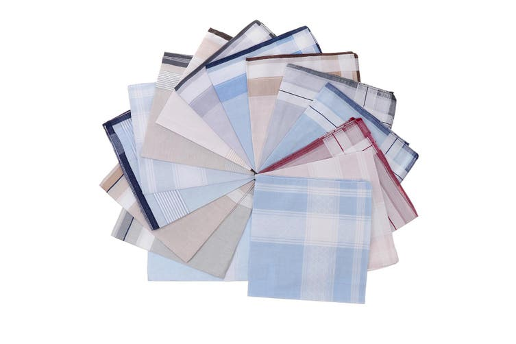 15PC 100% Cotton Handkerchief Absorbent Cloths Men's Women Suit Gifts 15.7x15.7""