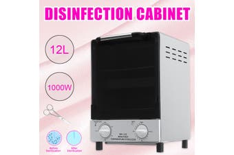 1000W Double Deck Heat Sterilizer Disinfection Cabinet Nail Tools Dry Autoclave