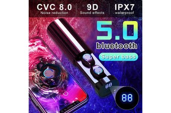 F9-6 TWS Wireless Earbuds bluetooth 5.0 Headphone Waterproof CVC8.0 Noise Canceling with 3000mAh Charging Case LED Power Display