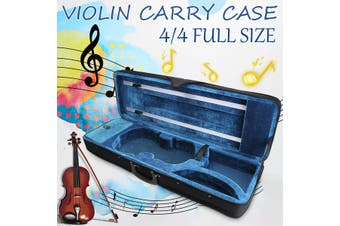 Violin Hard Case Full Size 4/4 Professional Oblong Shape Cushioning Carry Box