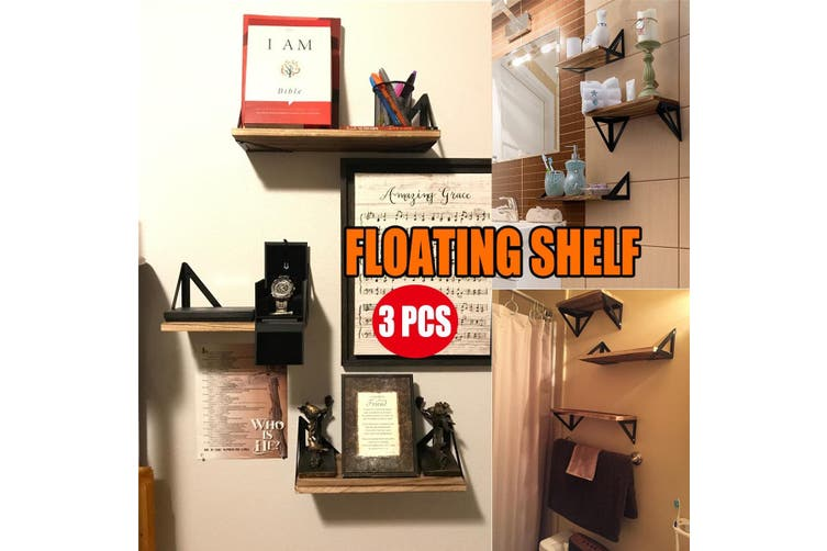 Simple Modern Home Wall Mounted Iron Wooden Hanging Storage Rack Floating Shelf Display Decor for Bedroom Bathroom Living room