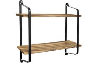 2 Tier Floating Wall Mount Shelf Display Floating Shelves Storage Rack