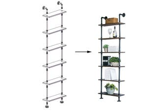 2M 6 Tier Stand Industrial DIY Bookshelf Wall Display Shelves Corner Pipe shelf