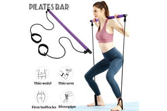 Portable Pilates Bar Stick Resistance Band for Gym Home Fitness Sport Exercise