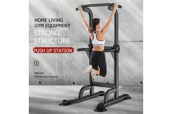 Pull Up Fitness Station Adjustable Height Pull-Up + Push-Up Bars Home Gym Exercise Workout Body Fitness Strength Training Equipment