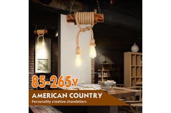 Industrial Hemp Rope Pendant Lighting Bar Lamp Home Vintage Ceiling Fixture