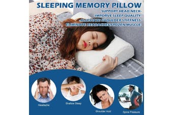 50*30*7-10CM Slow Rebound Memory Foam Pillow Cervical Contour Pillow for Neck