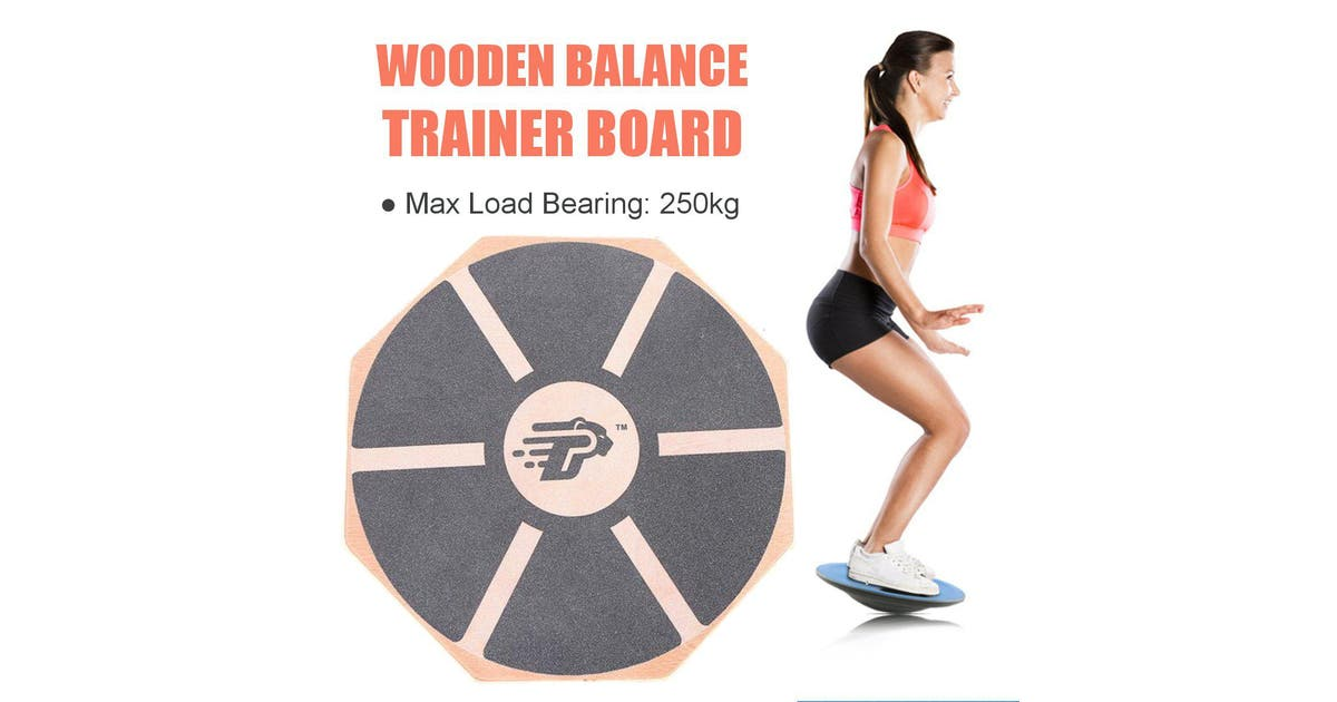 Wooden Balance Training Board 360 Rotation 39 5cm Non Slip Balancing Fitness Board Twisting Waist Trainer Indoor Outdoor Sport Legs Core Workout Plate Foot Massage Board Home Gym Fitness Workout Exerciser Tool Kogan Com