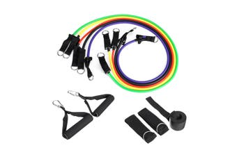 11Pcs Home Gym Fitness Pull Resistance Band Exercise Training Tube Workout Yoga