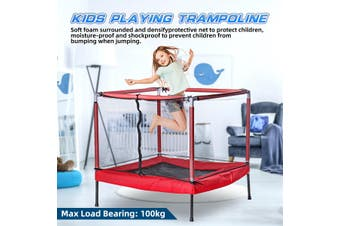 Square Indoor Trampoline Children Kids Playing Jumping Pad Exercise Playground