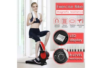 Exercise Bike With LED Display Magnetic Resistance Cardio Home Indoor Cycling Trainer Stationary Body Building Fitness Equipment