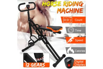 Horse Riding Machine 12 Gears Adjustable Hydraulic Resistance Rowing Machine Indoor Exercise