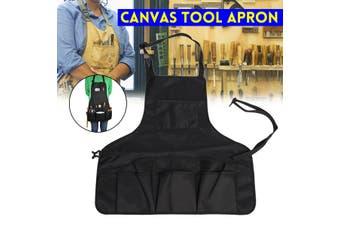 Waxed Canvas Tool Apron Double Oxford Utility Adjustable Work Waist Bag
