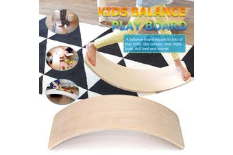 36 inch Kids Wooden Curved Balance Boards Toddler Children Fitness Bridge Toys Home Gym