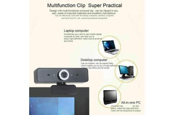 360° Rotatable HD Webcam PC Digital USB Camera Video Recording Adjustable Focus