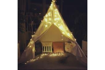 Kids Teepee Play Tent Princess Castle Pink Children House Indoor Outdoor +Lights