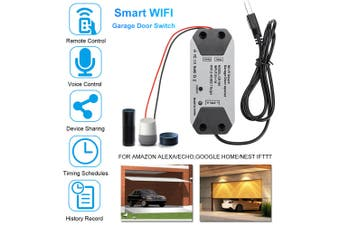 DC 5V 1A Smart APP Garage Door Opener Switch Garage Door Remote Control for Alexa Google Voice Control