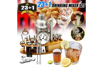24Pc Cocktail Shaker Bar Set Mixer Making Kit Gift Bartender Stainless Steel