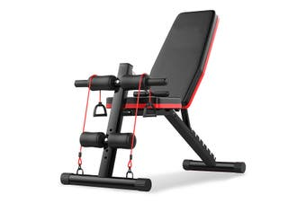 Adjustable Weight Dumbbell Bench 7 Gears Backrest Sit Up Abdominal+Fitness Rope
