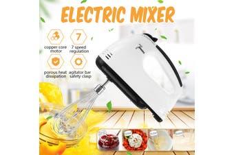 Electric Handheld Blenders 7 Speed Electric Handheld Food Whisk Blender Home Kitchen Egg Cake Mixer Beater(EU Plug)