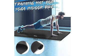 10MM Extra Thick 185X60cm High Quality NRB Non-slip Mute Yoga Mats For Fitness Tasteless Pilates Gym Exercise Pads Black Carpet
