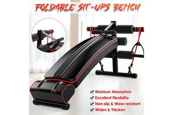 Foldable Sit-Ups Bench Board Weightlifting Strength Training Fitness Workout