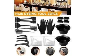 22PCS Hair Coloring Dyeing Kit Color Dye Brush Comb Mixing Bowl Salon Tint Tool(22PCS/SET)
