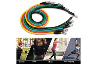 11pcs Pull Rope Fitness Exercises Resistance Bands Latex Tube Body Training Yoga