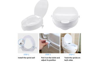 4 Inch Raised Toilet Seat Elevated Portable White Safety Disability With Lid