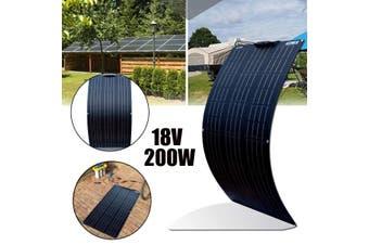 200W Flexible Solar Panel Cell Module Kit for 12V/24V RV/Car/Boat Waterproof