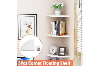 3pcs/Set Wall-Mounted Floating wall shelf Corner Storage Shelf rack Home Decor Furniture Shelves wall