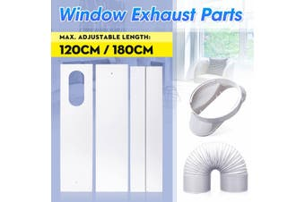 For Portable Air Conditioner Spare Accessories 2/3 Pcs 67.5-120 /180cm Window Slide Kit Plate Diameter or 1 Pcs 13cm Window Adaptor or Exhaust Hose