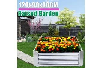 Galvanized Sheet Raised Garden Bed Metal Raised Garden Bed Patio Backyard Flower Vegetable Planter Basket