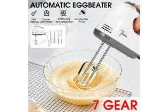 100W Handheld Automatic Food Mixer 7 Speed Egg Blender Whisk Cream Baking Tool