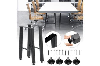 2pcs Coffee Dining Table Legs Steel Industrial Bench Metal Trapezoid Shape 55cm
