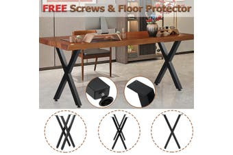 "One pair Industry Table Legs 28"" 22"" Trapezium X Shape Frame Dining/Bench/Office/Desk Desk Chair Legs Metal DIY Furniture【Just Table legs!】(X shape (72x40cm))"