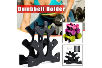 1PC Dumbbell Holder Dumbbell Stand Support Weight Lifting Dumbbell Bracket Exercise Equipment Gym Supplies(Without Dumbbell)