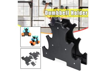 3 Tier Dumbbell Weight Holder Barbell Stand Rack Bracket Exercise Training Frame Gym Supplies(Type B)